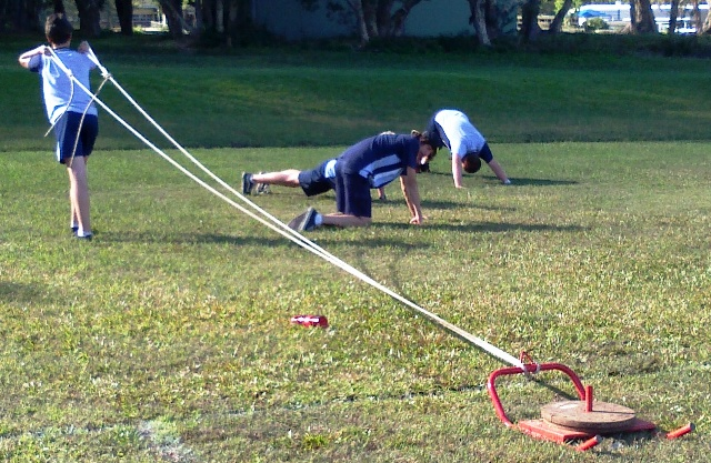 Sled pull- part of our boot camp unit for RST